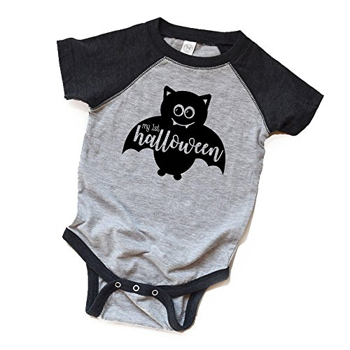 1st Halloween Bodysuit - My First Halloween Shirt - Baby Halloween Tee Trendy - Bat Cotsume - Spooky - Boo