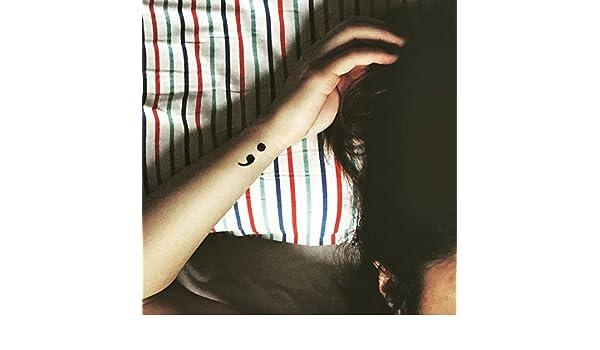 Tatuaje Temporal de Punto y coma (4 Piezas) - www.ohmytat.com ...