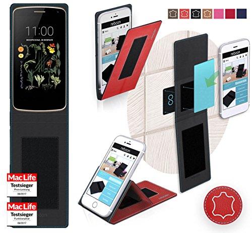 reboon Funda para LG K5 LTE | in Rojo Cuero | Carcasa ...