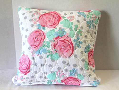 Quilted Pillow Cover Fits 16