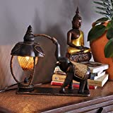 Thailand Style Elephant Bamboo & Wooden Table Light Livingroom Bedroom Restaurant Desk Light Decoration Lamp Free Shipping,Black,Brown
