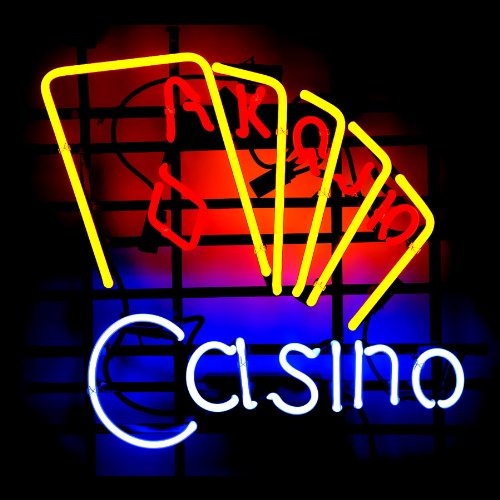 Lakers Neon Sign (Red Casino Neon Signs, 24(w) x 24(h) inch Neon Lights made with Real Glass Tube, Beautiful Bar or Business Decoration)