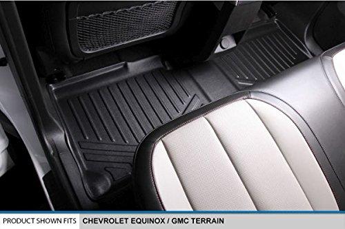 MAXLINER Floor Mats 2nd Row Liner Black for 2010-2017 Chevrolet Equinox//GMC Terrain