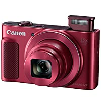 Canon PowerShot SX620 HS Digital Camera (Red) + Transcend 32GB Memory Card + Point & Shoot Camera Case + Card Reader + Card Wallet + Cleaning Kit + Screen Protectors + Hand Grip + Deluxe Accessory Kit from Canon