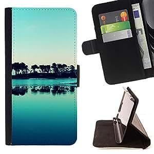 For Sony Xperia Z3 Plus / Z3+ / Sony E6553 (Not Z3),S-type Naturaleza Hermosa Forrest Verde 176- Dibujo PU billetera de cuero Funda Case Caso de la piel de la bolsa protectora