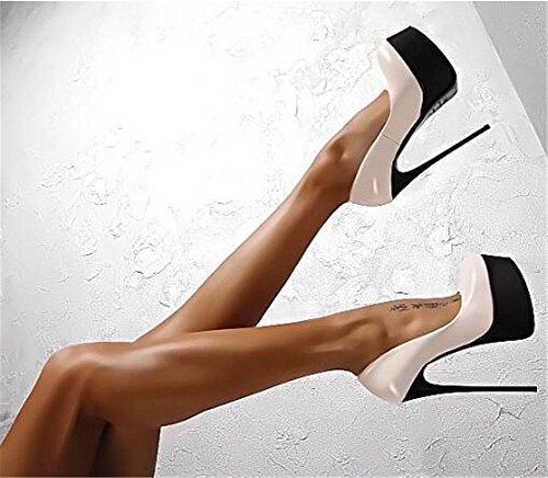 Donna Black Nvxie Stiletto 5 Tribunale eur38uk55 Superficiale Vestito Tacco 5 Piattaforma Festa Eur Alto Inteligente Singolo Nero Pompe Sexy Discoteca uk Scarpe 38 1drwCdqE
