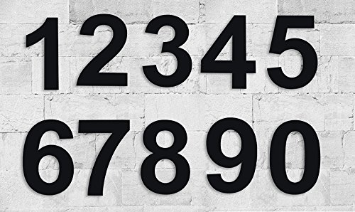 QT Modern House Number - 6 Inch Black - Stainless Steel (Number 0 Zero), Floating Appearance, Easy to Install and Made of Solid 304 Stainless Steel by QT Home Decor (Image #5)