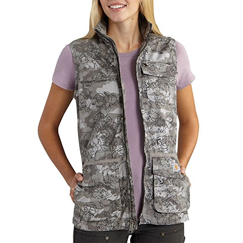 - Carhartt Women's El Paso Utility Vest Camo, Asphalt, Small