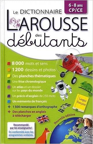 Amazon.fr - Larousse dictionnaire des débutants 6/8 ans CP ...