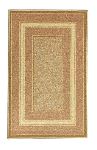 Gloria Stair Non- Slip Landing Mat- Skid Resistant Rubber Back Landing mat - Beautiful Design Landing Mat for Bottom of Stairs - Floor mat (Rose Gold)