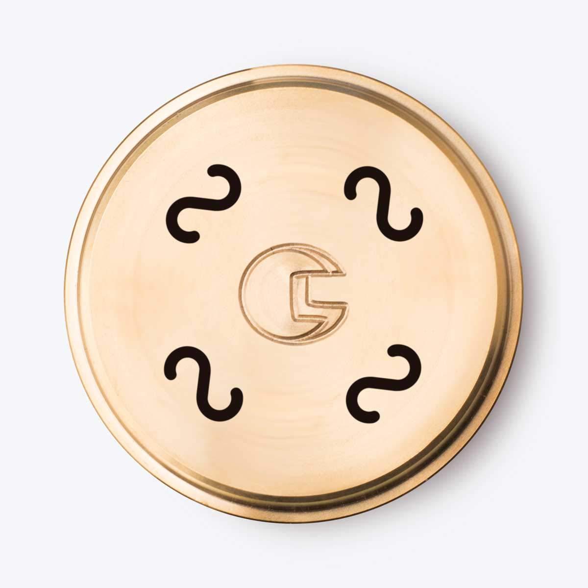 Trafila per pasta in bronzo N°190 CASERECCE per Kenwood, Philips Pasta Maker, Philips Viva Collection CAPITANIO CAMILLO SNC