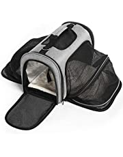 Katze-Tatze Sac Transport Chat, Extensible Pliable Transporteur D'Animaux de Compagnie, Sac Chat Ajustable Luxury Airline Approuvé Transporteur De Chien, Gris