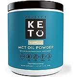 Perfect Keto MCT Oil Powder: Vanilla Ketosis Supplement to Burn Fat for Fuel Using (Medium Chain Triglycerides - Coconuts) for Ketone Energy - Paleo Natural Non Dairy Ketogenic Keto Coffee Creamer