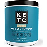 Perfekt Keto MCT Oil Powder: Vanilla Ketosis Supplement (Medium Chain Triglycerides, Coconuts) for Ketone Energy. Paleo Natural Non Dairy Ketogenic Keto Coffee Creamer