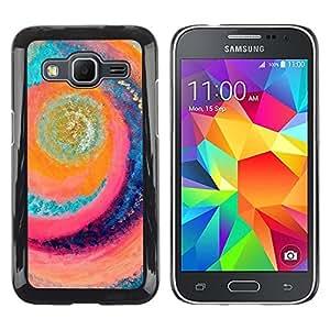 iKiki Tech / Estuche rígido - Surf Sun Swirl Beach Aquamarine - Samsung Galaxy Core Prime SM-G360