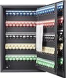BARSKA Steel 200 Key Safe Cabinet with Combination and Key Lock Box