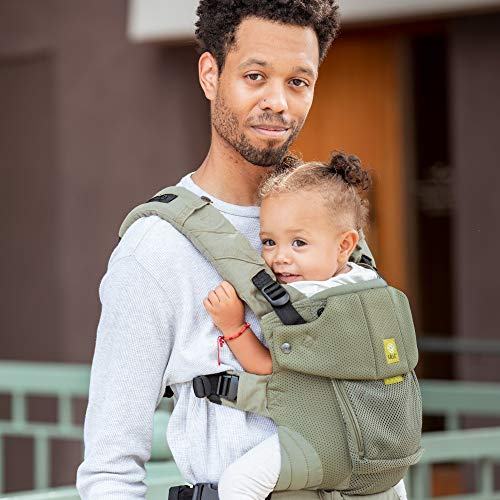 LÍLLÉbaby Serenity Airflow Six-Position Ergonomic Baby and Child Carrier with Convertible Tote, Artichoke