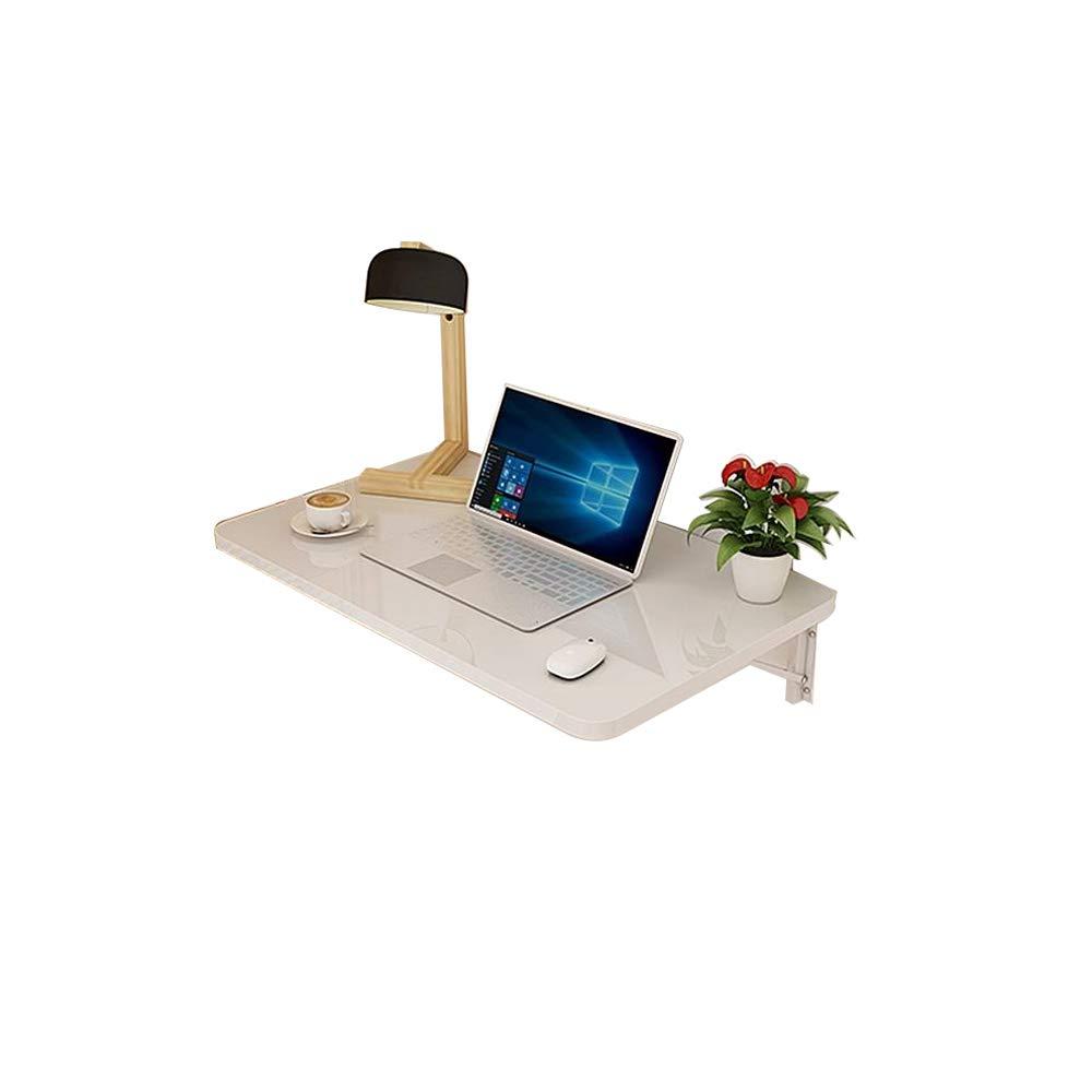 Table QIN WNQ Escritorio De La Computadora De La Oficina En Casa del Panel De Madera Blanca Escritorio De La Pared Plegable De La Computadora Portátil para La Mesa Plegable del Pequeño Espacio A+