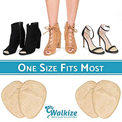 Metatarsal Pads | Metatarsal Pads for Women | Ball of Foot Cushions (2 Pairs Foot Pads) All Day Pain Relief and Comfort One Size Fits Shoe Inserts for Women