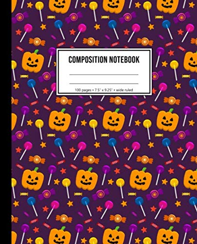 Halloween Trick Or Treat Rules (Composition Notebook: Wide Ruled Halloween Trick Or Treat)