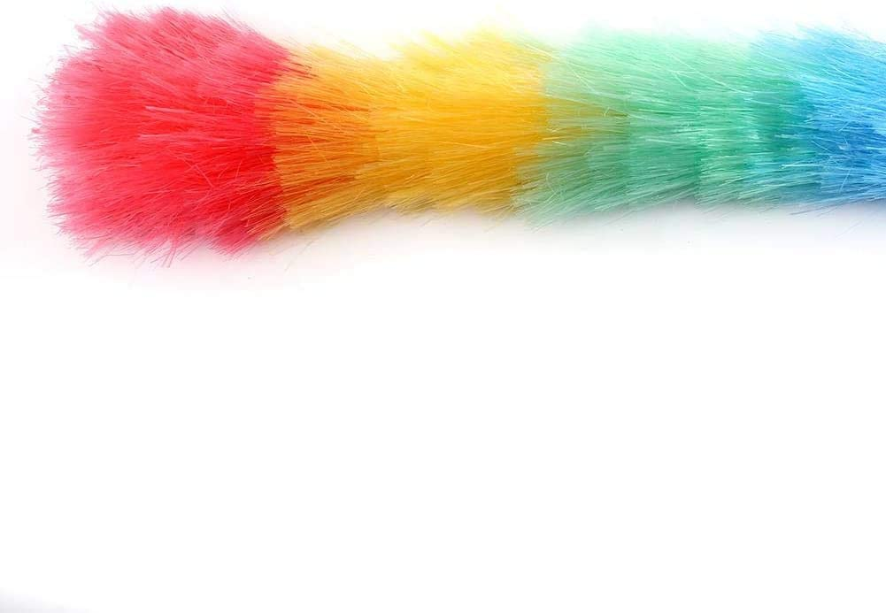 Colorful Feather Duster Soft Duster Cleaning Tool Anti Static Long Handle Household Feather Duster Cleaning Products Pick2Basket Magic Feather Duster