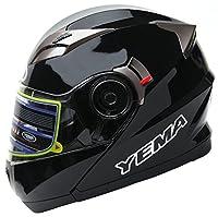YEMA Helmet YM-925 Dual Visor Modular Flip up Motorcycle Helmet-Black,X-Large from Lanxi Yema Motorcycle Fittings Co.,LTD