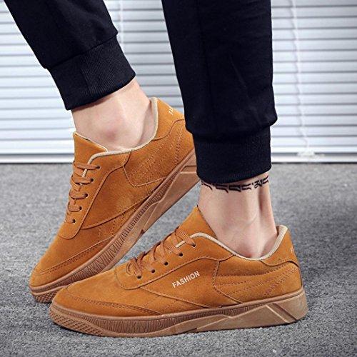 Viaggio Sneaker Autunno Casual Scarpe Stringate Piatte Scarpe da da Scarpe Sportive Uomo Scarpe da Scarpe Scarpe in Sportive Giallo BYSTE Uomo Esecuzione 6RqgxSwq