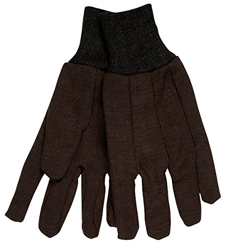Memphis - General Purpose Jersey Cotton Clute Gloves, One Size, Brown, 12 Pairs 7100D (DMi DZ Brown Jersey Clute Pattern