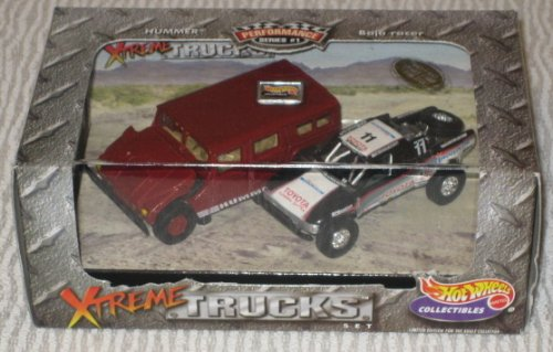 Hot Wheels 2-car Set Xtreme TRUCKS: HUMMER & Baja Racer (Hot Wheel Baja Truck compare prices)