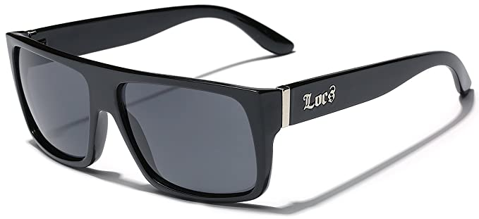 4f2690ff7f LOCS Super Flat Top Original Gangsta Shades Hardcore Sunglasses - Black