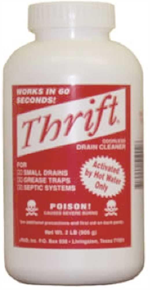 Alkaline Based Drain Cleaner - Thrift Drain Cleaner Case of 12 2Lb Granular - Thrift T-200 by Thrift Drain Cleaner (Image #1)