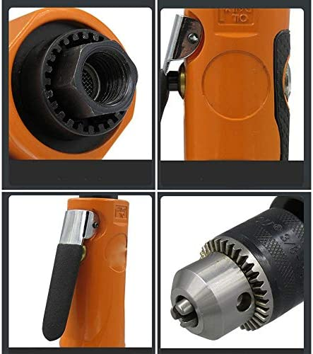 Pneumatic Tool Industrial Grade 3/8 Straight Air Drill with Gear, 10mm Air Drill, Adjustable Speed Air Drill Drilling Machine Tapping Machine
