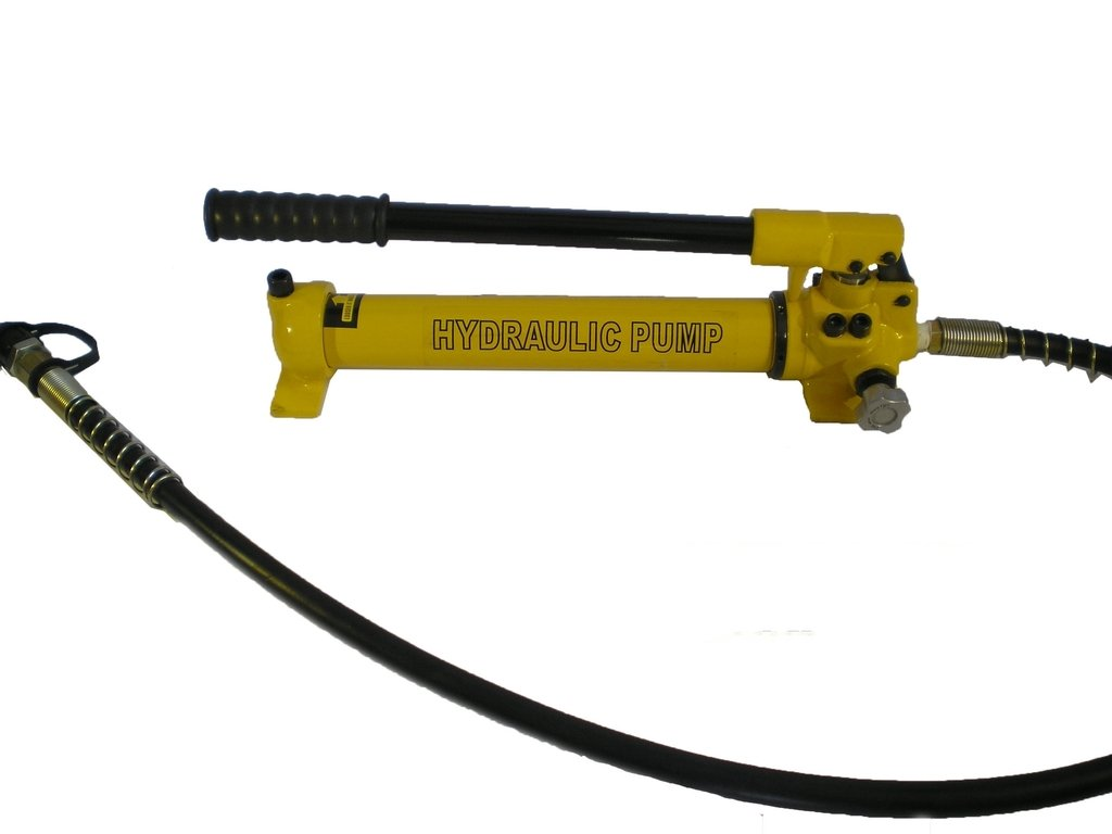 Hydraulic Hand Pump 2 speed Power Pack Hose Coupler (10000 psi - 21 in3) B-700C