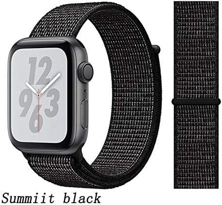 JWJY ユニバーサル・ウォッチバンド44ミリメートル40ミリメートル42ミリメートル38ミリメートルのナイロンブレスレット時計バンド44/42 (Band Color : Summiit black, Band Width : 42mm or 44mm)
