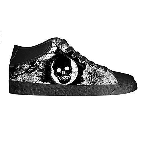 Dalliy Cool Skull Mens Canvas shoes Schuhe Lace-up High-top Sneakers Segeltuchschuhe Leinwand-Schuh-Turnschuhe D