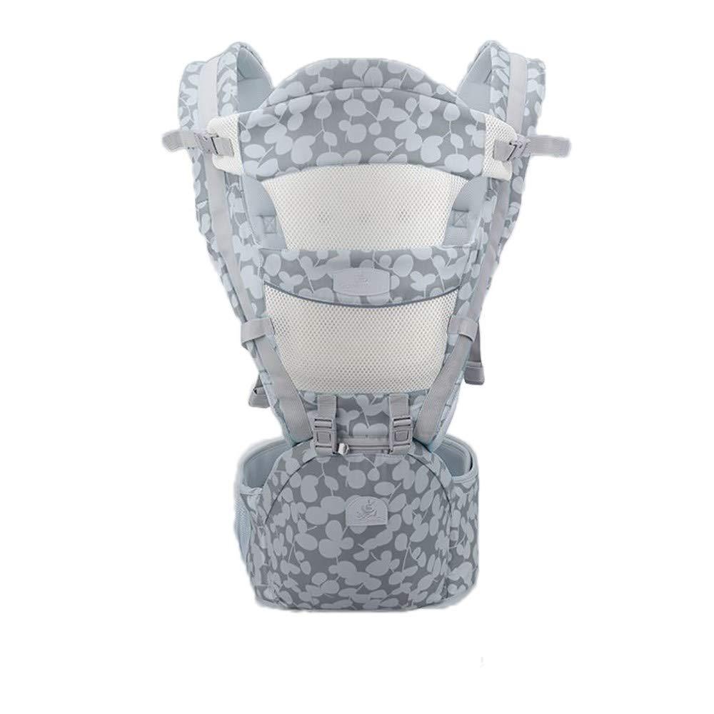 Atmungsaktive Multifunktions-Babytrage bis zu 3 Jahren (10-50 lbs), ergonomische Tragepositionen, mysteriöses Grau