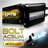 Bolt AC 35w Slim HID Kit - All Bulb Sizes and Colors - Relay Capacitor Bundle - 2 Yr Warranty [H13 Hi-Lo - 8000K Ice Blue]