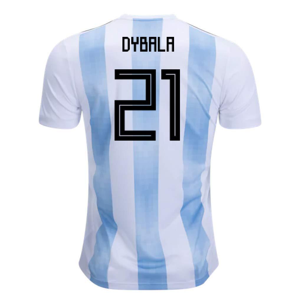 2018-19 Argentina Home Football Soccer T-Shirt Trikot (Paulo Dybala 21)