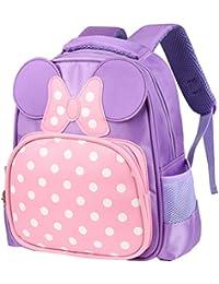 8bb980b00a30 Kids Backpack Adorable Kindergarten School Bag Oxford Cloth Preschool  Backpacks Cute Daypack for Little Girls