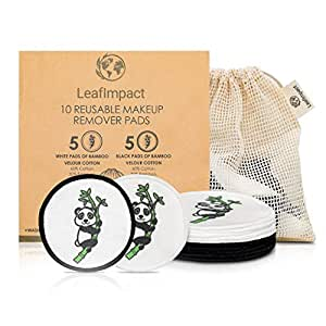 Eco Friendly Reusable Cotton Pads | Zero Waste Reusable Make up Remover Pads | Beauty Products And Gift | Bamboo 10 & Organic Face Pads with Laundry Bag | Natural Wipes Facial Cleansing