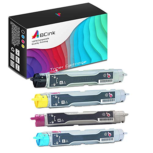 (ABCink Compatible Toner Cartridge Replacements for Xerox 106R00675 106R00672 106R00673 106R00674,for use in Xerox Phaser 6250 6250B 6250DP 6250DT 6250DX,4 Pack(Black,Cyan,Yellow,Magenta))