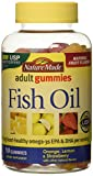 Nature Made Fish Oil Adult Gummies – Orange Lemon & Strawberry Banana 90 Ct, Pack of 2 For Sale