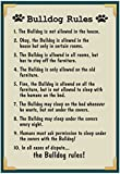 Bulldog House Rules Poster 13 x 19in with Poster Hanger