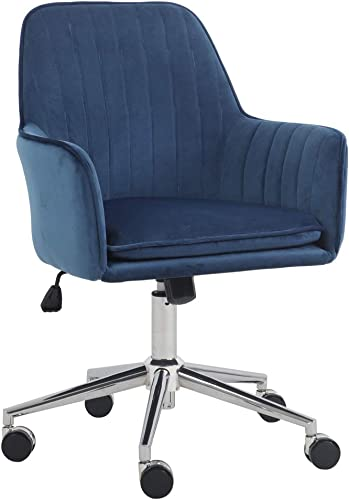 J L Furniture Home Office Chair Velvet Mid-Back Desk Chair Mordern Comfort Task Chair