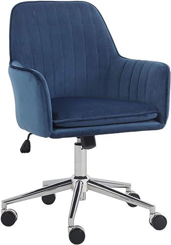 J L Furniture Home Office Chair Velvet Mid-Back Desk Chair Mordern Comfort Task Chair