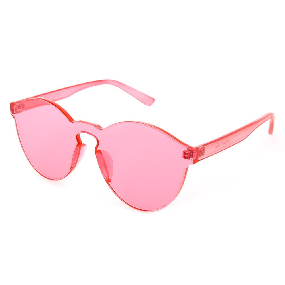 Claire's Girl's Rimless Pink Tinted Transparent Sunglasses