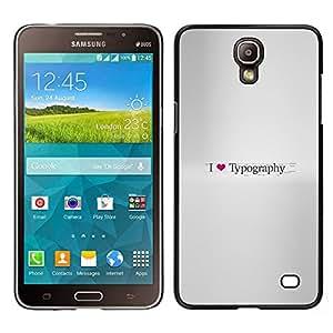 EJOY---Cubierta de la caja de protección la piel dura para el ** Samsung Galaxy Mega 2 ** --Amo Tipografía