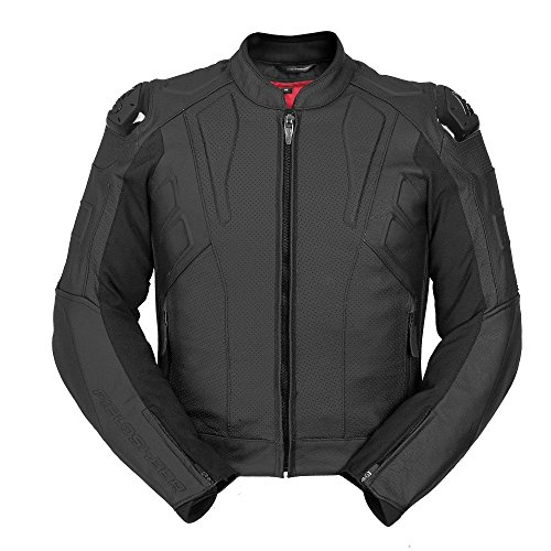 Fieldsheer Super Sport Air Mens Leather Street Racing Motorcycle Jacket 46 Black