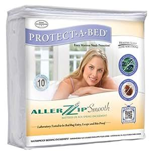 AllerZip Smooth Waterproof Bed Bug Proof Zippered Bedding Encasement, Full, (Fits 12 - 18 in. H)