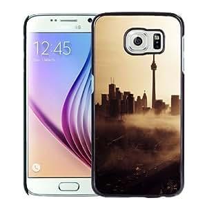 Fashionable Custom Designed Samsung Galaxy S6 Phone Case With Seattle Skyline City Fog_Black Phone Case Kimberly Kurzendoerfer